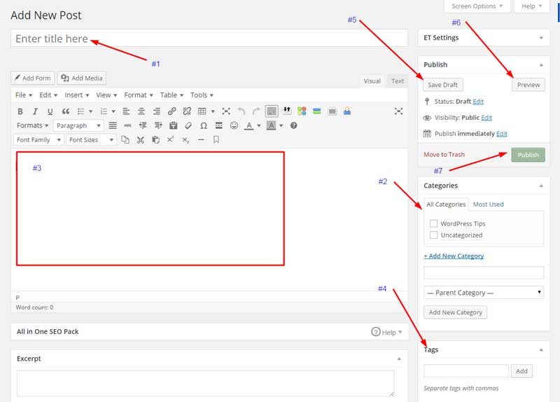 WordPress Editor Basics – Blog Creation
